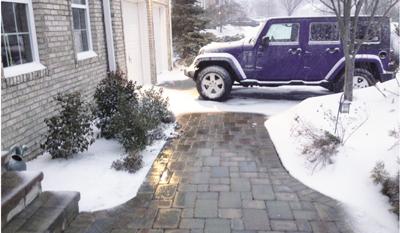 Snow Melting On Walkway 2